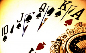 Poker-royal flush