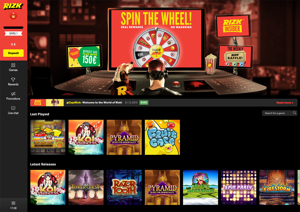 LiveCasino Blackjack - Rizk Casino